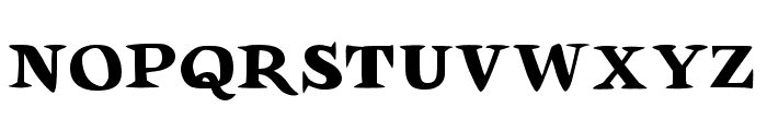 Auca Font UPPERCASE