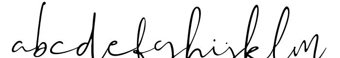 Audhistine Font LOWERCASE