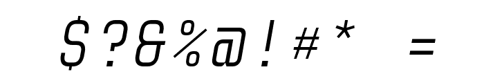 Audimat Mono LightOblique Font OTHER CHARS