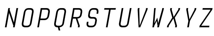 Audimat Mono LightOblique Font UPPERCASE