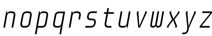 Audimat Mono LightOblique Font LOWERCASE