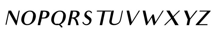 Audrey Medium Oblique Font UPPERCASE