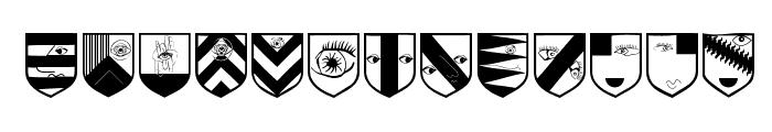 AugenWappen Font UPPERCASE