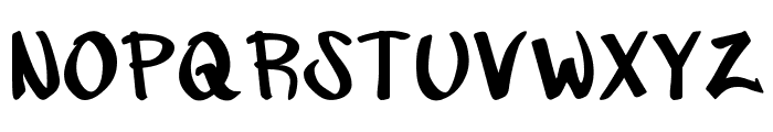Augushand Font UPPERCASE