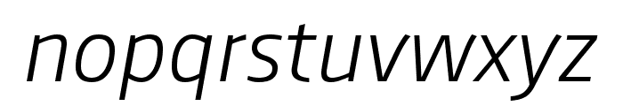 August Sans Reduced 46 Light Italic Font LOWERCASE