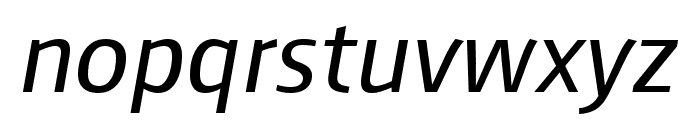 August Sans Reduced 56 Italic Font LOWERCASE