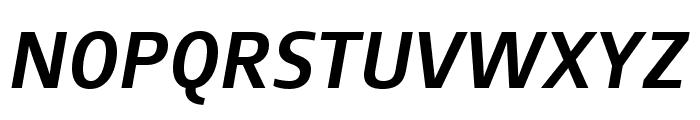 August Sans Reduced 66 Medium Italic Font UPPERCASE
