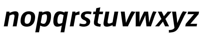 August Sans Reduced 66 Medium Italic Font LOWERCASE