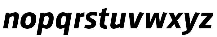 AugustSansReduced-BoldItalic Font LOWERCASE