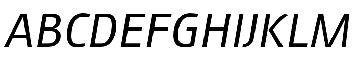 AugustSansReduced-Italic Font UPPERCASE