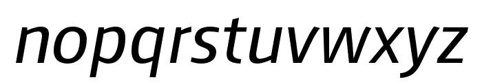 AugustSansReduced-Italic Font LOWERCASE