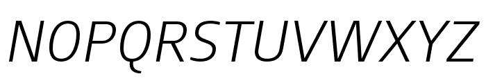 AugustSansReduced-LightItalic Font UPPERCASE