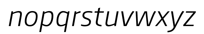 AugustSansReduced-LightItalic Font LOWERCASE