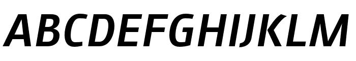 AugustSansReduced-MediumItalic Font UPPERCASE