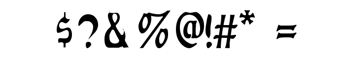 Augusta Regular Font OTHER CHARS