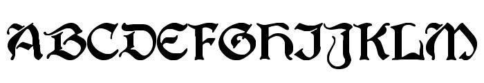 Augusta Regular Font UPPERCASE
