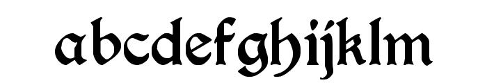 Augusta Regular Font LOWERCASE