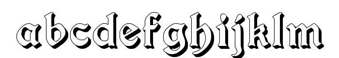 Augusta Shadow Font LOWERCASE