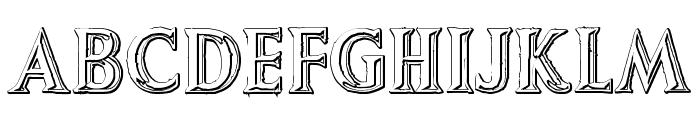 Augustus Beveled Font UPPERCASE