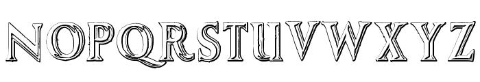 AugustusBeveled Font UPPERCASE