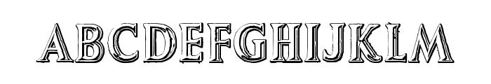 AugustusBeveled Font LOWERCASE