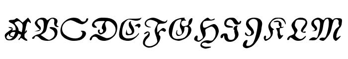AuldMagick Italic Font UPPERCASE