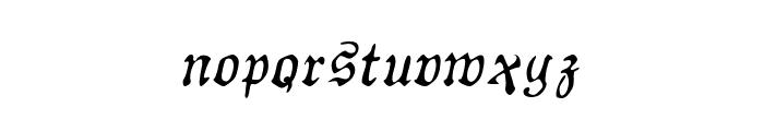AuldMagick Italic Font LOWERCASE