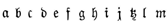 AuldMagick Font LOWERCASE
