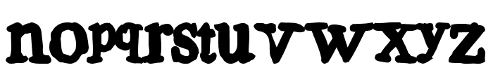 Aulden Times  Over Weight Font LOWERCASE