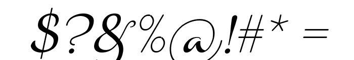 Aulyars Italic Font OTHER CHARS