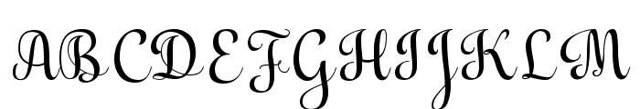 Aulyars Font UPPERCASE