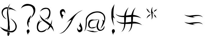 Aumakua Regular Font OTHER CHARS