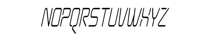 Aunchanted Condense Oblique Font UPPERCASE