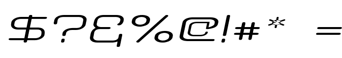 Aunchanted Expanded Oblique Font OTHER CHARS