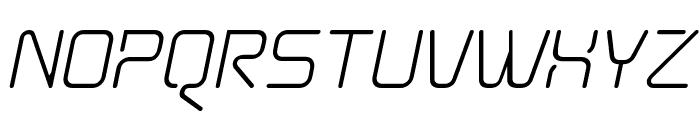 Aunchanted Oblique Font UPPERCASE