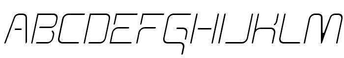 Aunchanted Thin Oblique Font UPPERCASE