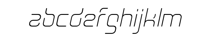 Aunchanted Thin Oblique Font LOWERCASE