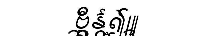 Aung San Burma Font UPPERCASE