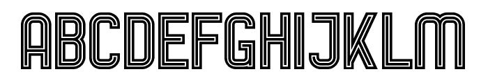AurachTri Font UPPERCASE