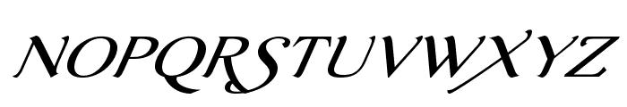 AurelisADFScriptNo2Std-ExtIt Font UPPERCASE