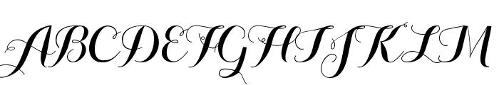 Aurella-Script Font UPPERCASE
