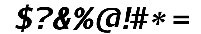 AurulentSans-BoldItalic Font OTHER CHARS