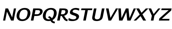 AurulentSans-BoldItalic Font UPPERCASE
