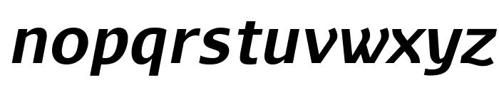 AurulentSans-BoldItalic Font LOWERCASE