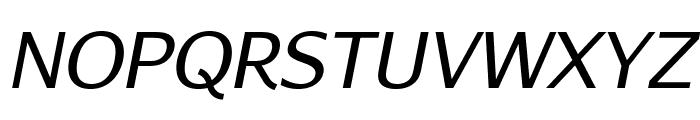 AurulentSans-Italic Font UPPERCASE