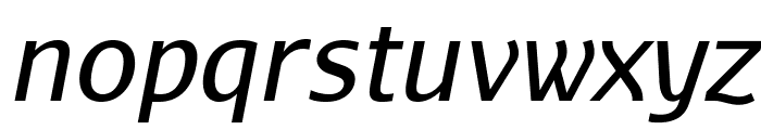 AurulentSans-Italic Font LOWERCASE