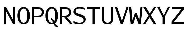 AurulentSansMono-Regular Font UPPERCASE