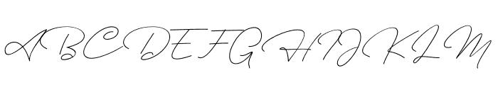 Ausberg Font UPPERCASE