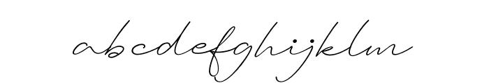 Ausberg Font LOWERCASE