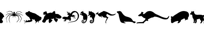 AussieIcons Font LOWERCASE